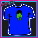 GREEN MAN RETRO 80'S COOL CARTOON TSHIRT